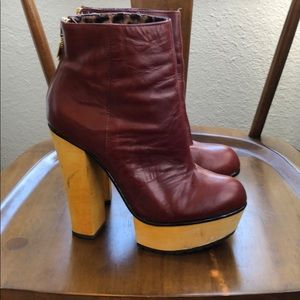Betsy Johnson leather platform bootie